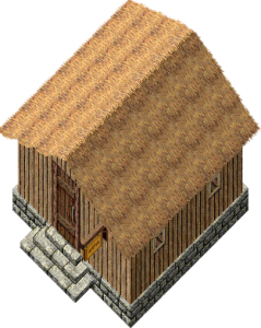 """Small Wood House Thatched Roof Cottage - """"1000 kalas"""""""